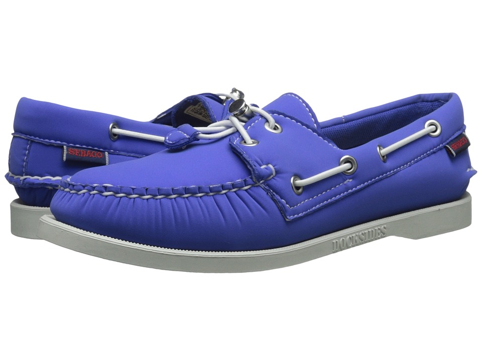 Sebago Dockside Ariaprene Blue Neoprene Womens Slip on Shoes