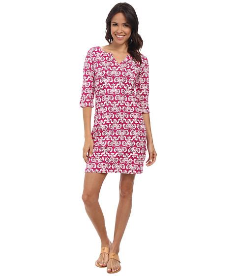 Hatley - Peplum Sleeve Dress (Batik Fuchsia) Women's Dress