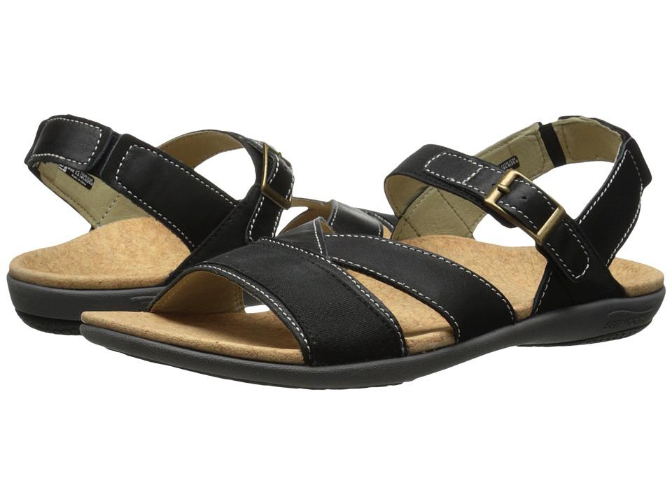 Spenco Ashley Black Womens Sandals