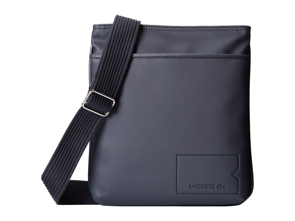 Lacoste - Classic Flat Crossover Bag (Black Iris) Cross Body Handbags