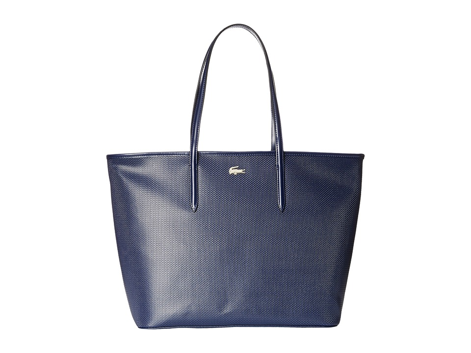 Lacoste - Chantaco Medium Tote (Peacoat) Tote Handbags