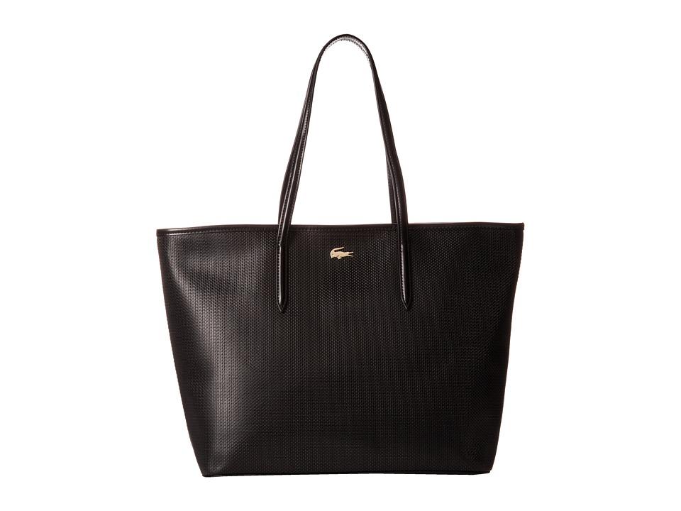 Lacoste - Chantaco Medium Tote (Black) Tote Handbags