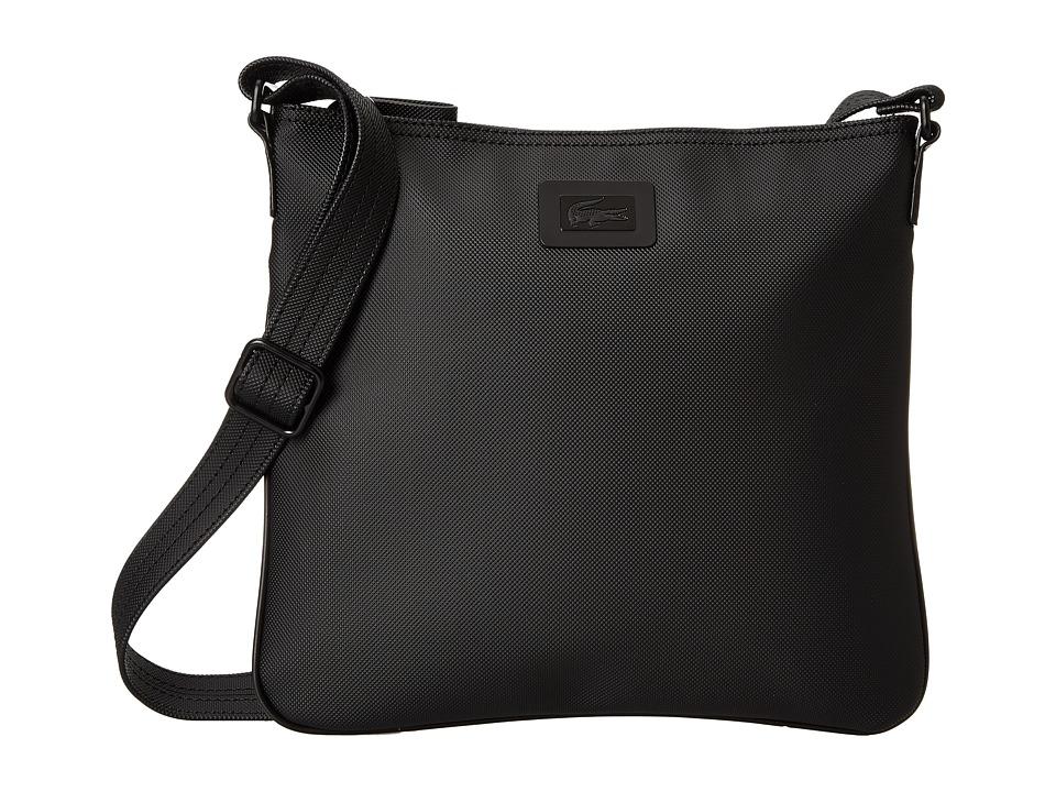 Lacoste - Classic Flat Crossover Bag (Black) Cross Body Handbags