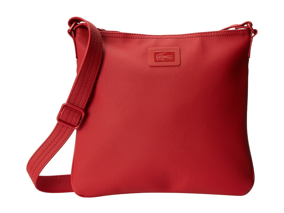 Lacoste - Classic Flat Crossover Bag (Flame Scarlet) Cross Body Handbags