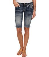 Rock Revival - Semak M3 Bermuda Short in Medium Indigo