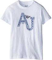 Armani Junior - S/S Paisley AJ Logo Tee (Big Kids)