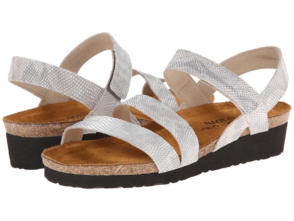 Naot Footwear - Kayla (Silver Snake Leather) Women