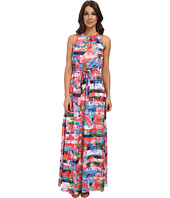 Jessica Simpson - Floral Stripe Maxi Dress