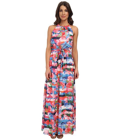 Jessica Simpson Floral Stripe Maxi Dress