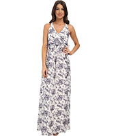 Jessica Simpson - Floral Print Ruffle Maxi Dress