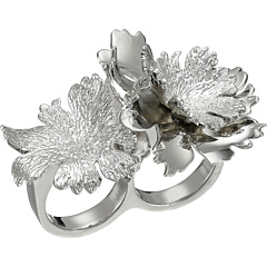 review detail Alexander McQueen Lotus Flower Double Ring New Palladium