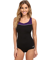 Speedo - High Neck Piped One-Piece