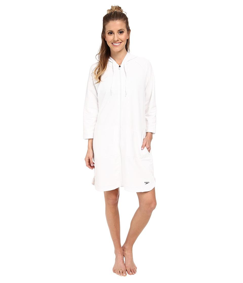Speedo Aquatic Fitness Robe White Womens Swimwear