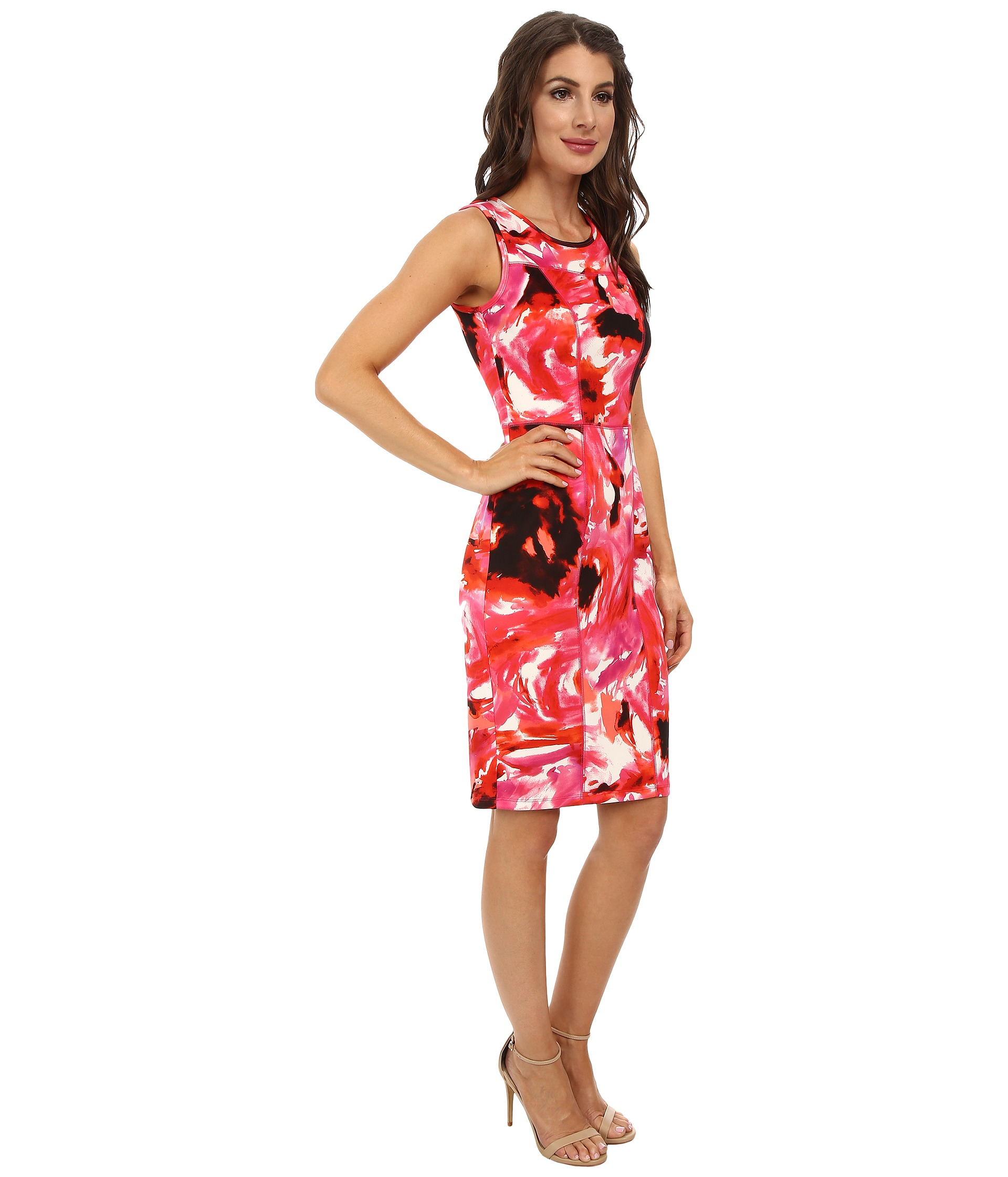 Maggy London Flower Storm Scuba Sheath Dress Zapposcom