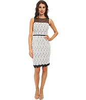 Maggy London - Scroll Dot Lace Mixed Novelty Sheath Dress