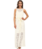 Maggy London - Diamond Lace Blouson Maxi Dress