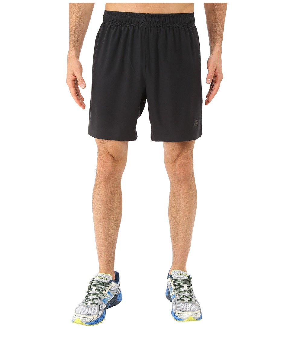 New Balance 7 Stretch Woven Short (Black) Men