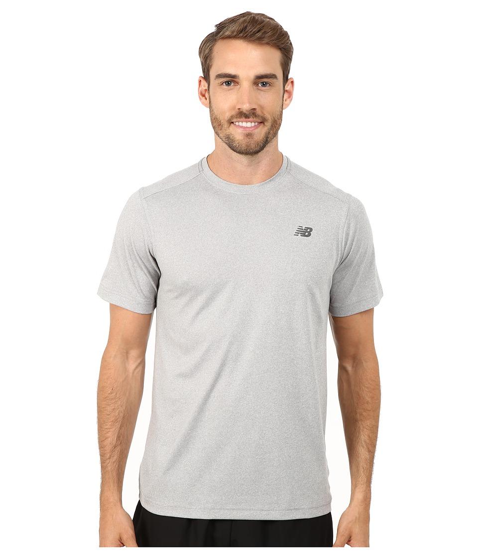 New Balance - Short Sleeve Heather Tech Tee (Athletic Grey) Men