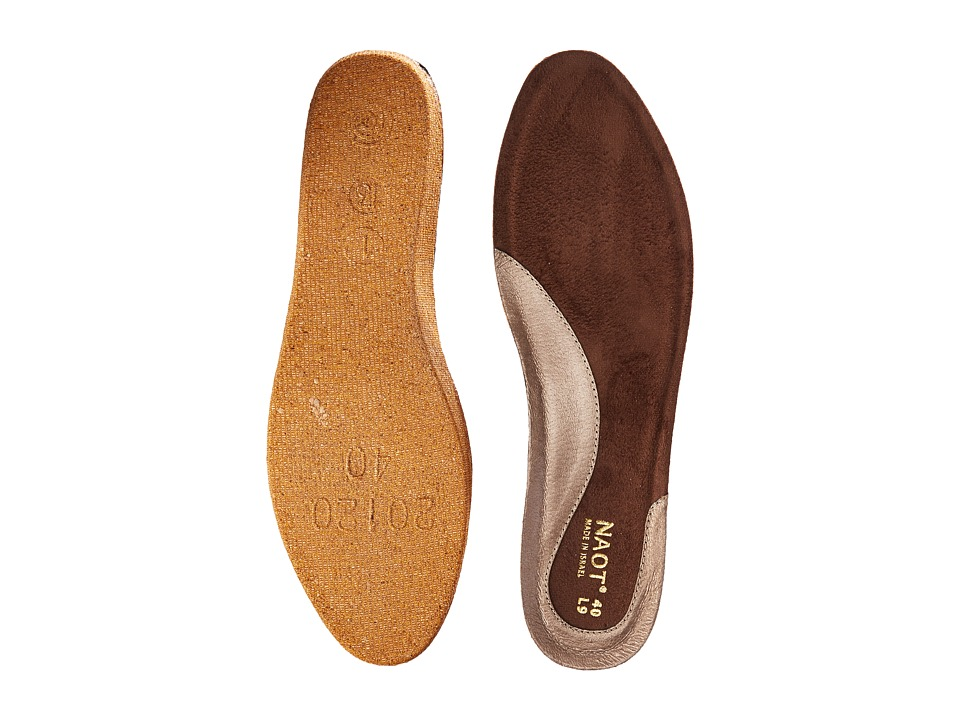 Naot Footwear FB27 Aura Replacement Footbed Gold Womens Insoles Accessories Shoes