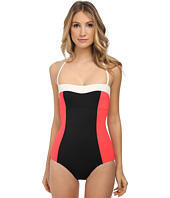 Kate Spade New York - Color Block Halter Maillot