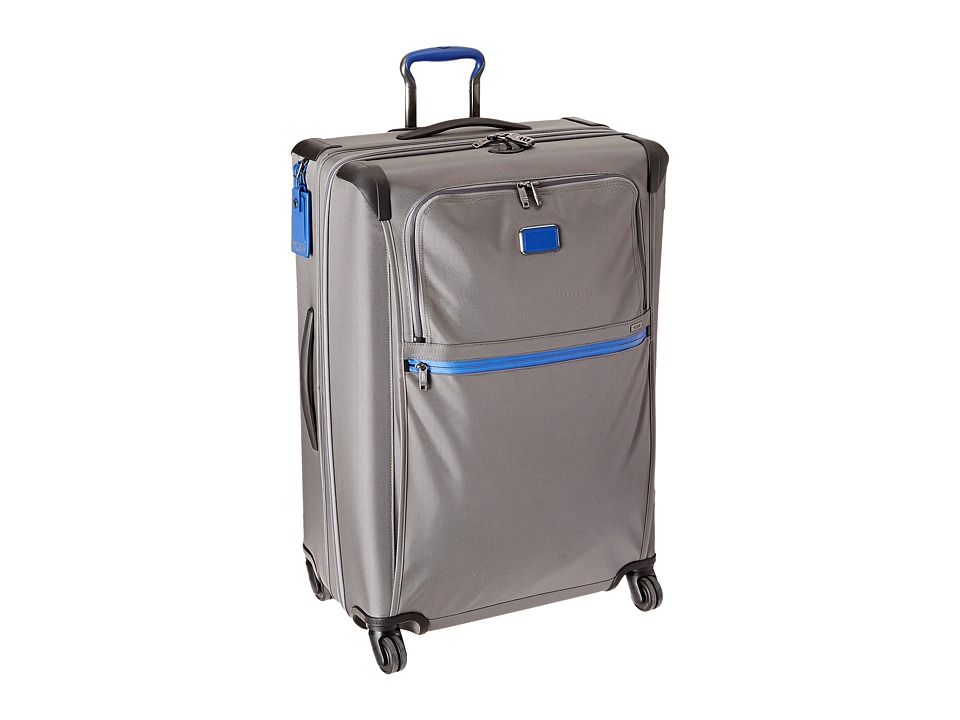 Tumi Alpha 2 Extended Trip Expandable 4 Wheeled Packing Case (Grey/Atlantic) Luggage