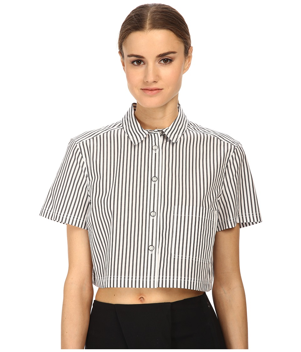Marc by Marc Jacobs Button Up Shirt Crop Gunmetal Multi Womens Clothing