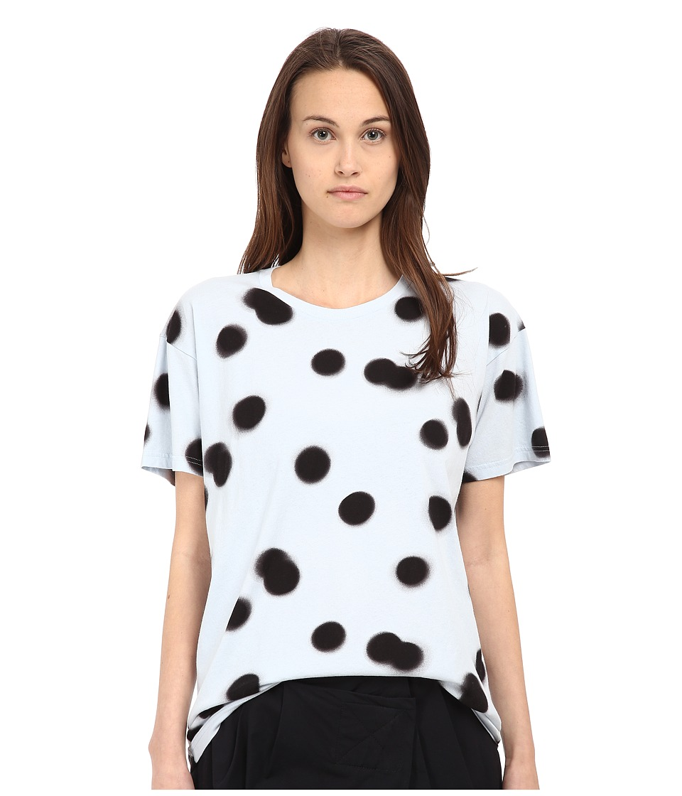 Marc by Marc Jacobs Blurred Dot Tee Cloud Blue Multi Womens T Shirt