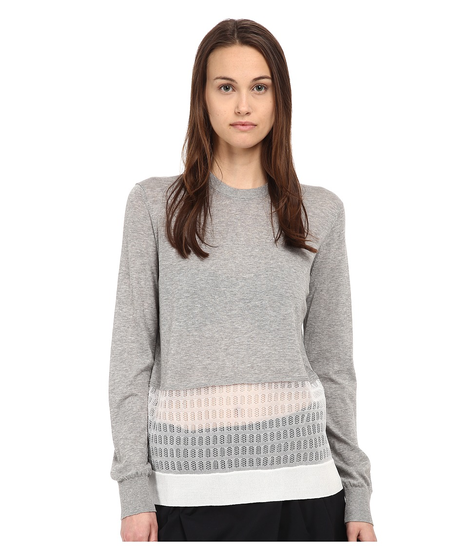 Marc by Marc Jacobs Papillon Combo Sweater Frost Grey Melange Womens Sweater