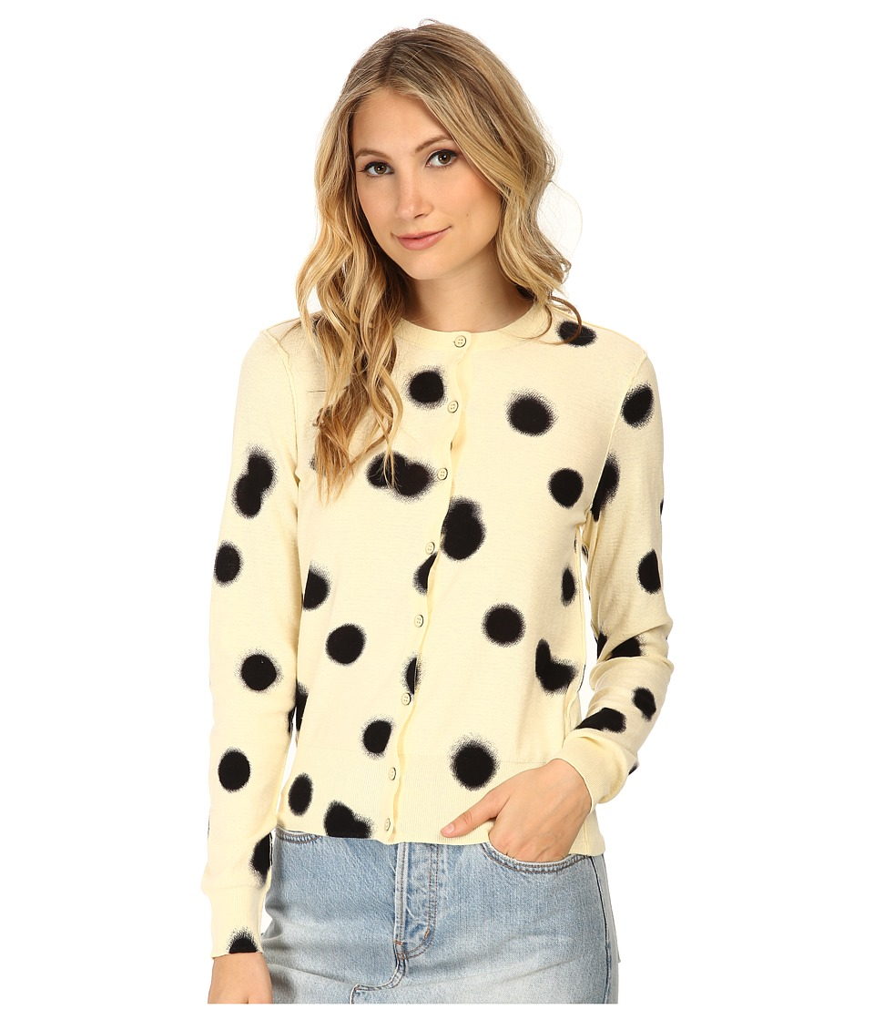 Marc by Marc Jacobs Blurred Dot Cardigan Whey Multi Womens Sweater