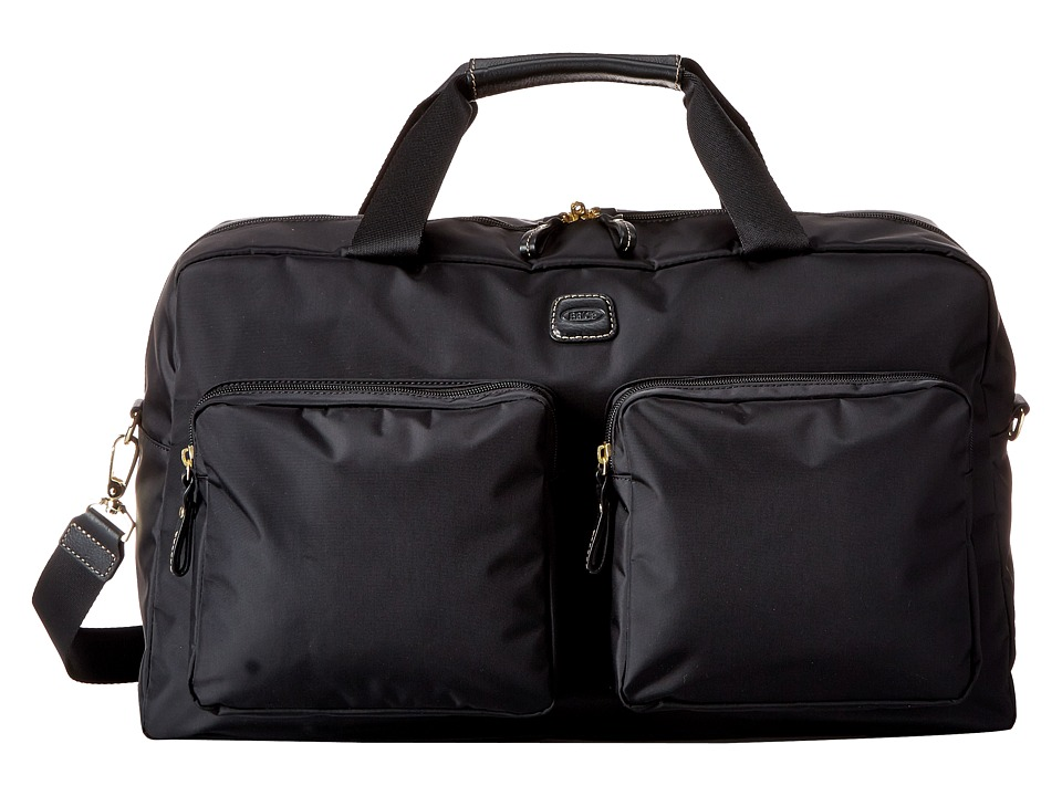Brics Milano Boarding Duffel w/ Pockets Black Duffel Bags