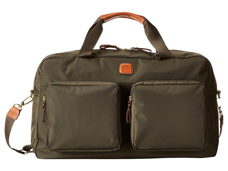 Brics Milano Boarding Duffel w/ Pockets Olive Duffel Bags