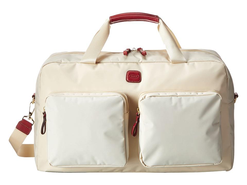Brics Milano Boarding Duffel w/ Pockets Cream Duffel Bags