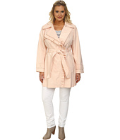 Jessica Simpson - Plus Size Asymmetrical Zip Ruffle Front Trench