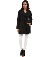 Jessica Simpson - Asymmetrical Zip Ruffle Front Trench