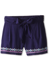 Lucky Brand Kids - Tie Front Short w/ Embro (Little Kids)