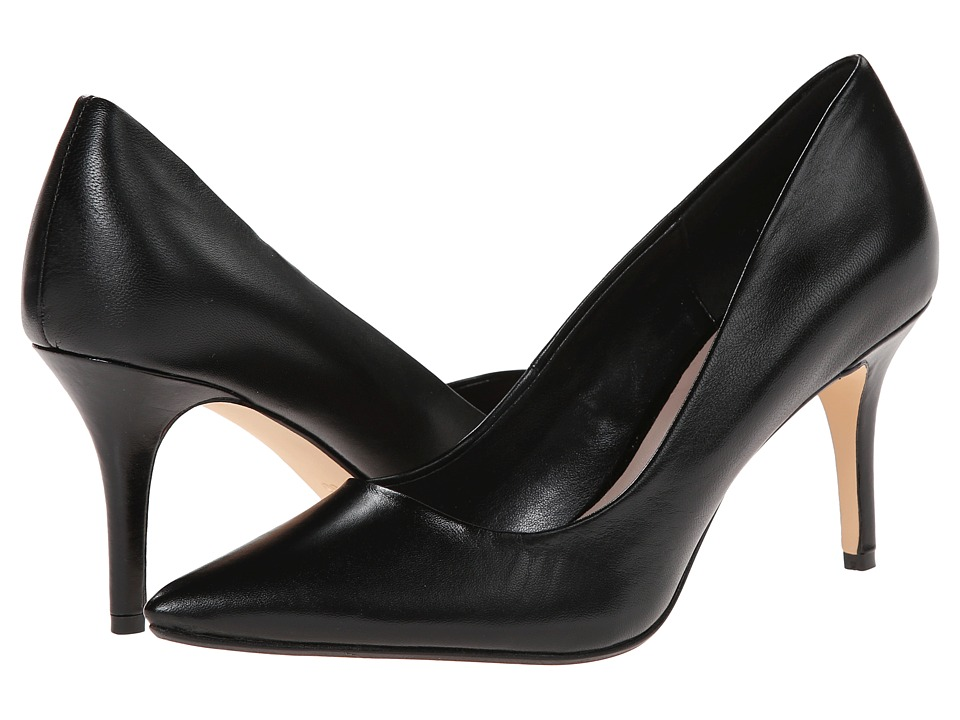 Dune London Alina Black Leather High Heels