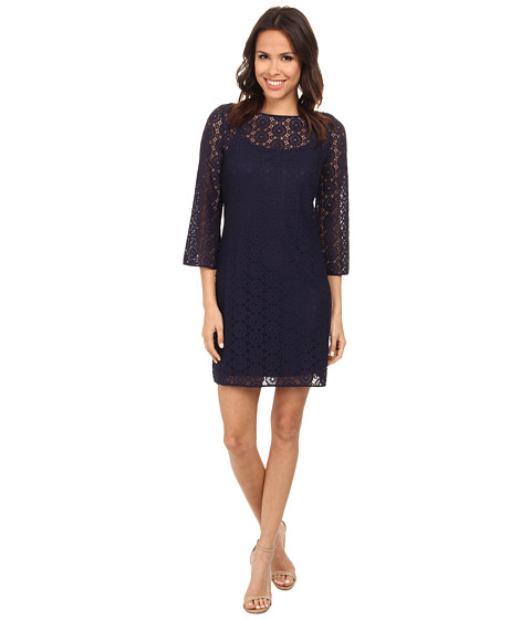 Lilly Pulitzer - Topanga Dress (True Navy Breakers Lace) Women's Dress