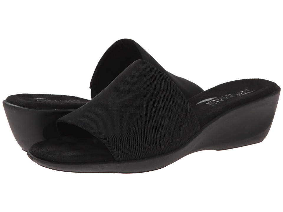 Aerosoles Badminton Black Elastic Womens Slide Shoes