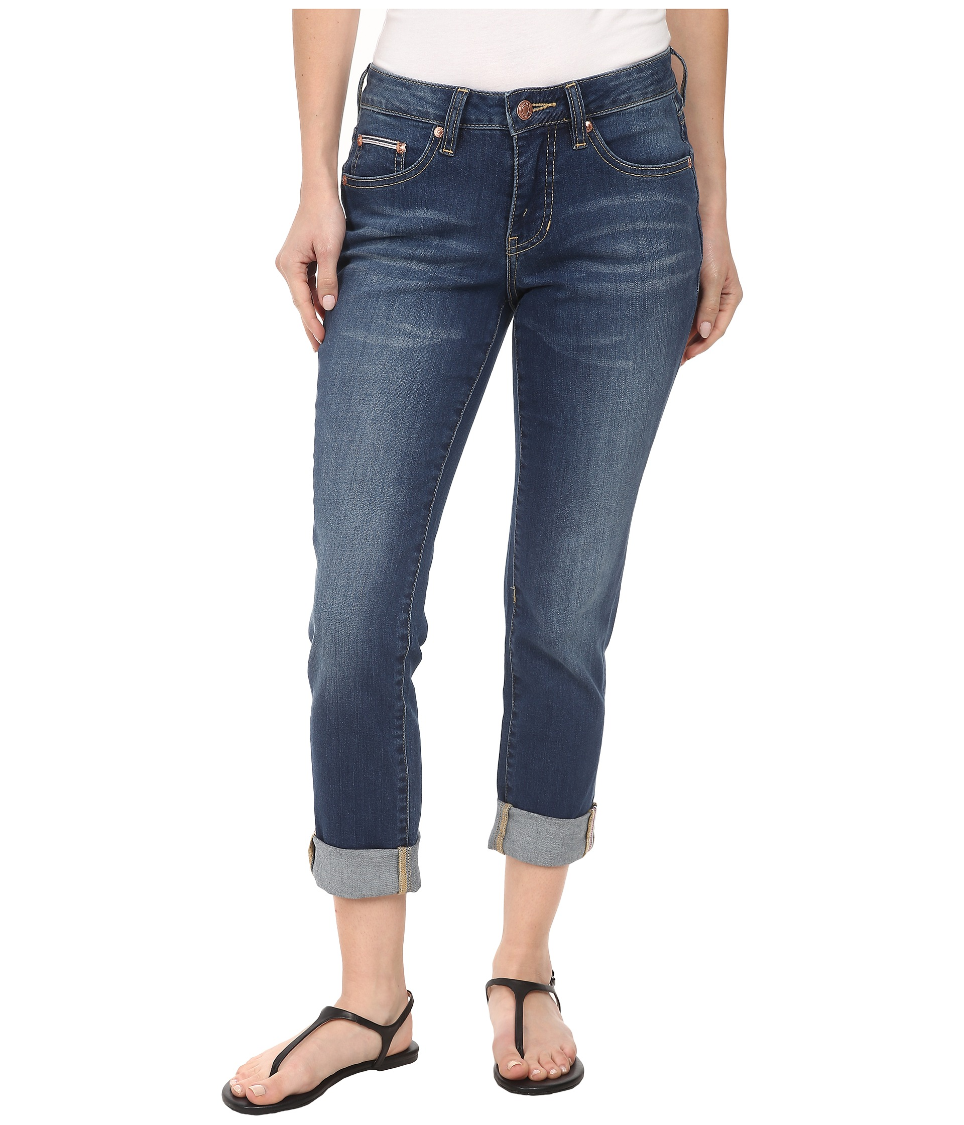 Jag Jeans Petite Petite Henry Relaxed Boyfriend in Forever Blue - Zappos.com Free Shipping BOTH Ways