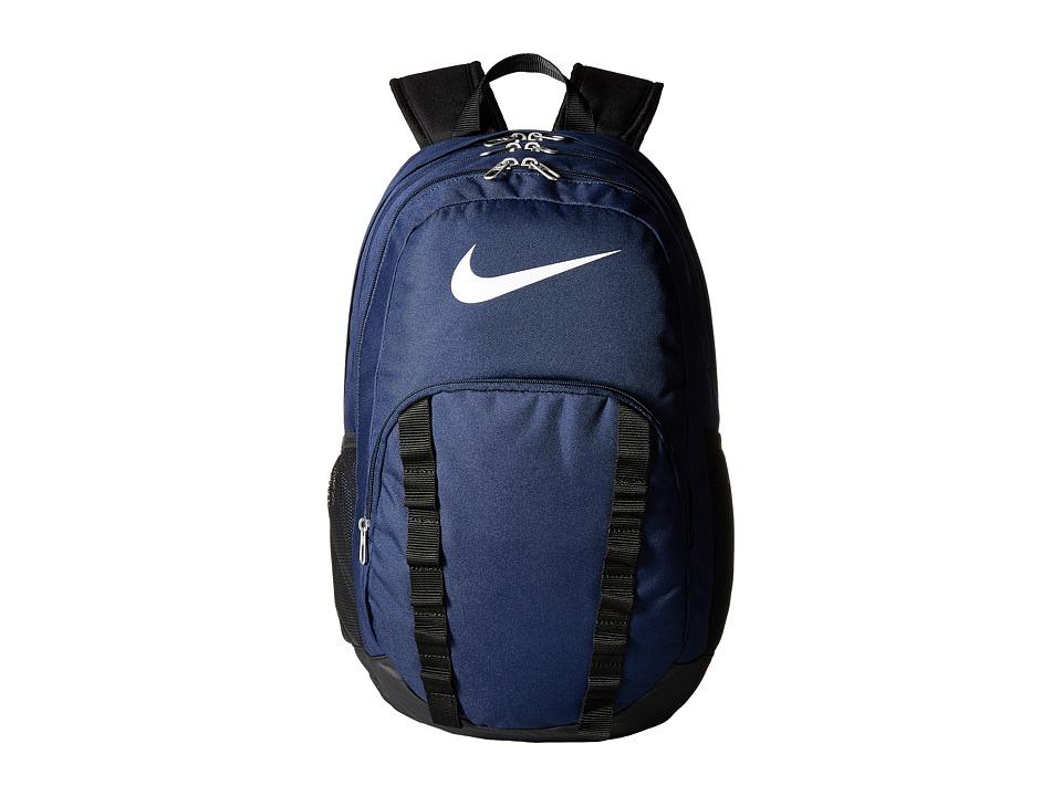 Nike - Brasilia 7 Backpack XL (Midnight Navy/Black/Black) Backpack Bags