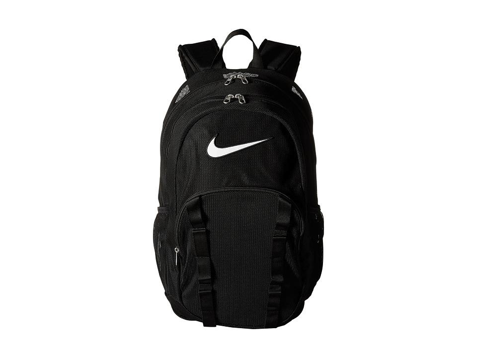 Nike - Brasilia 7 Backpack Mesh XL (Black/Black/White) Backpack Bags