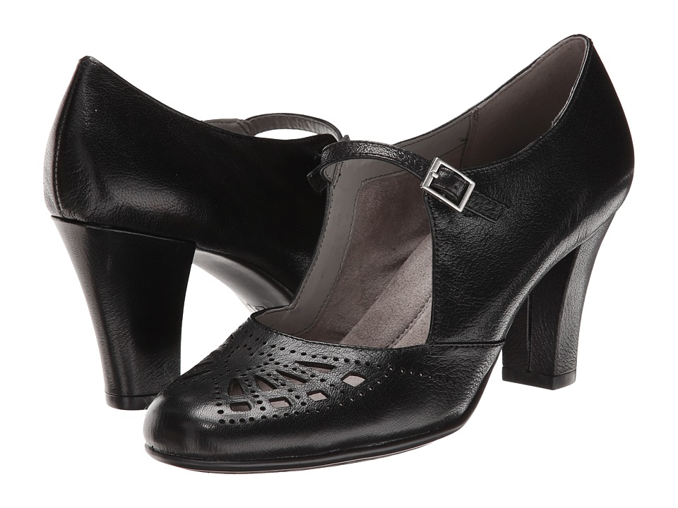 Aerosoles - Role of Fate Black Leather High Heels $79.00 AT vintagedancer.com