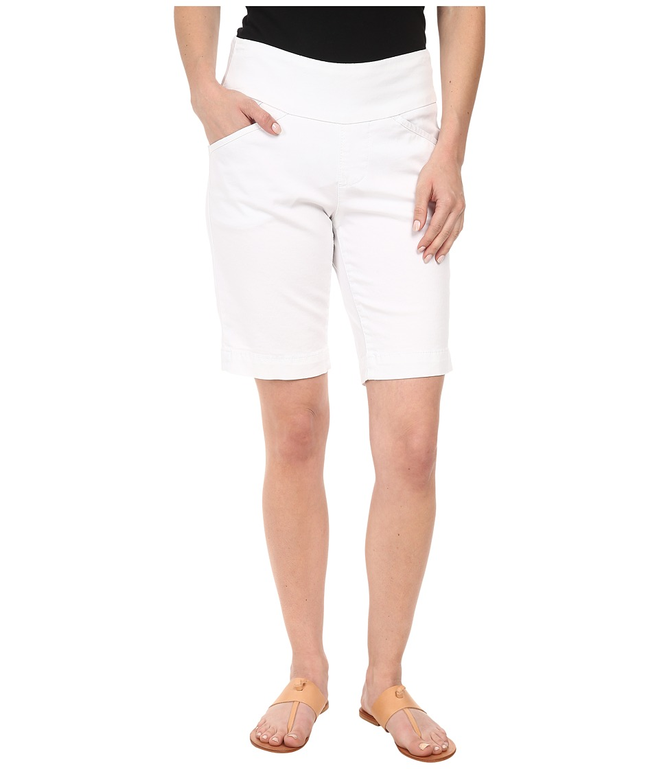 Jag Jeans Petite Petite Ainsley Pull On Classic Fit Bermuda Bay Twill White Womens Shorts