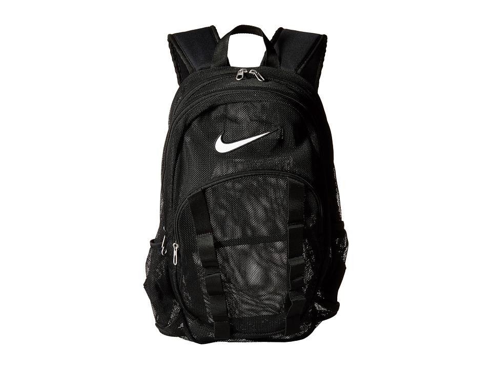 Nike - Brasilia 7 Backpack Mesh Large (Black/Black/White) Backpack Bags