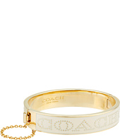 COACH - Half Inch Hinged Enamel Coach Bangle
