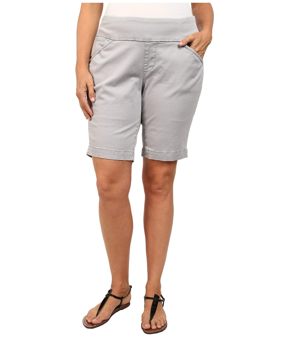 Jag Jeans Plus Size Plus Size Ainsley Classic Fit Bermuda in Bay Twill Grey Morn Womens Shorts