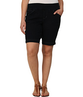 Jag Jeans Plus Size - Plus Size Ainsley Pull-On Classic Fit Bermuda in After Midnight