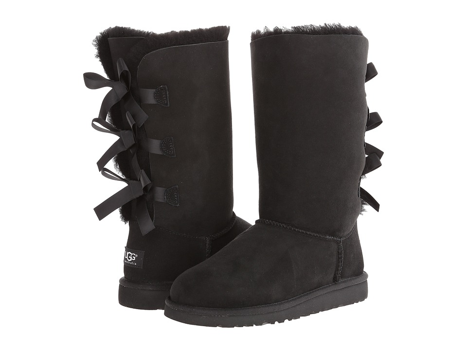 Ugg Kids - Bailey Bow Tall (Big Kid) (Black 2) Girls Shoes
