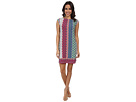 Donna Morgan Extended Sleeve Jersey Shift Dress (Punch Multi)