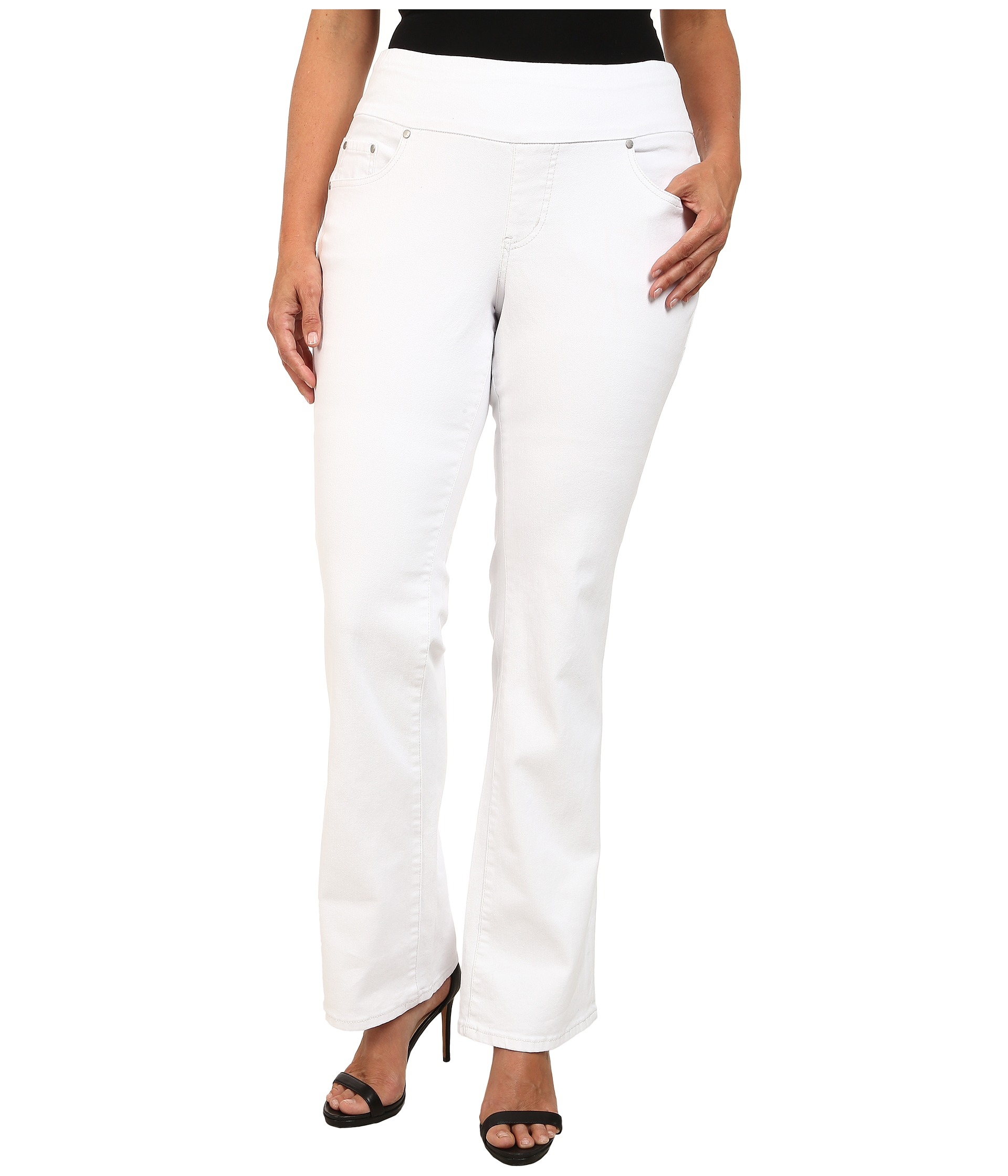 The Limited Plus Size Skinny Ankle Denim Jeans - White. Crisp white denim keep these jeans timeless and clean in a sharp ankle cut. Artfully appointed with laid-back luxe that endures, this.